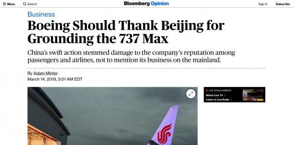 Bloomberg Says Boeing Should Be Thankful To China In Latest Example Of A Globalist US Company Aiding Communist Regime