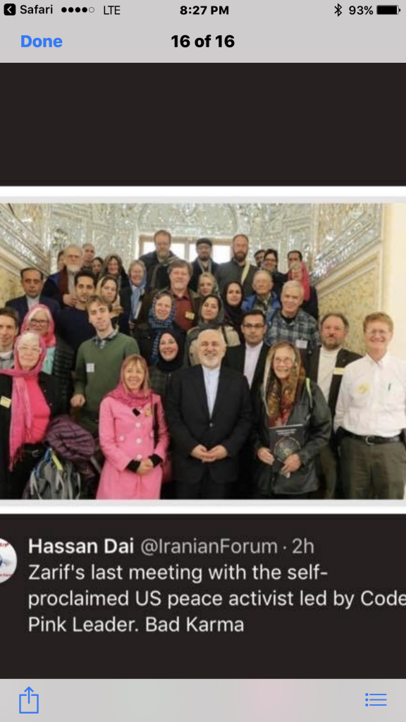 There Is Nothing Pink About Code Pink, Except Maybe The Blood From The Murder Of Iranian Women And Girls They Help The Regime Cover Up