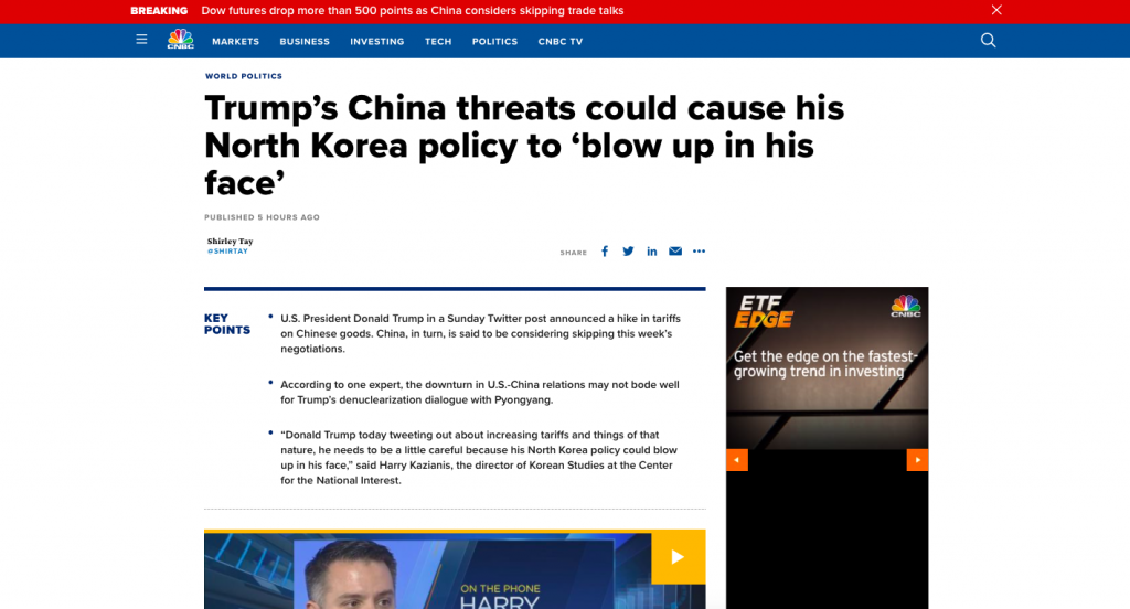 Leftist Financial Media Disparages Trump In Trade Dispute With China