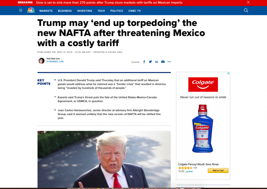 U.S. Financial Press Dutifully Carries Water For #NeverTrump As POTUS Confronts Mexico With Tariffs Over Illegal Immigration