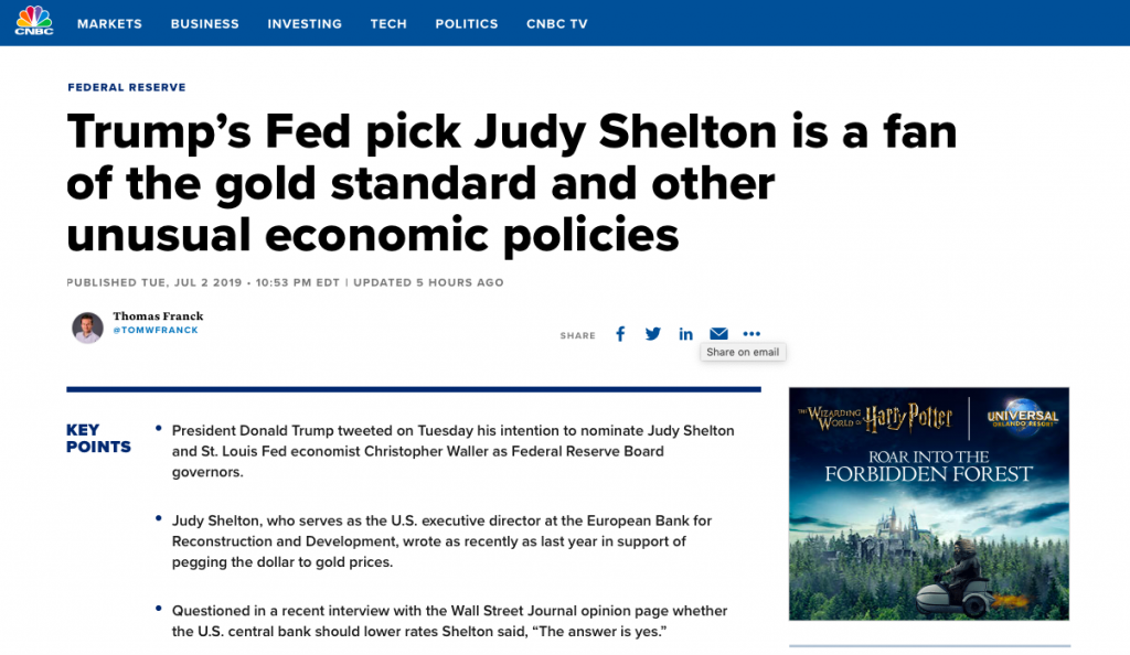 Globalist Financial Media Immediately Attacks Trump Fed Nominees Who May Bring Sound Money Policy