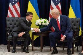 Volodymyr Zelensky and Donald Trump 2019-09-25
