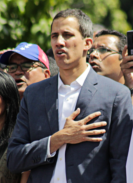 Venezuelan Opposition Leader Declared Speaker Of Parliament Outside Building After Being Prevented From Entering By Maduro Loyalists