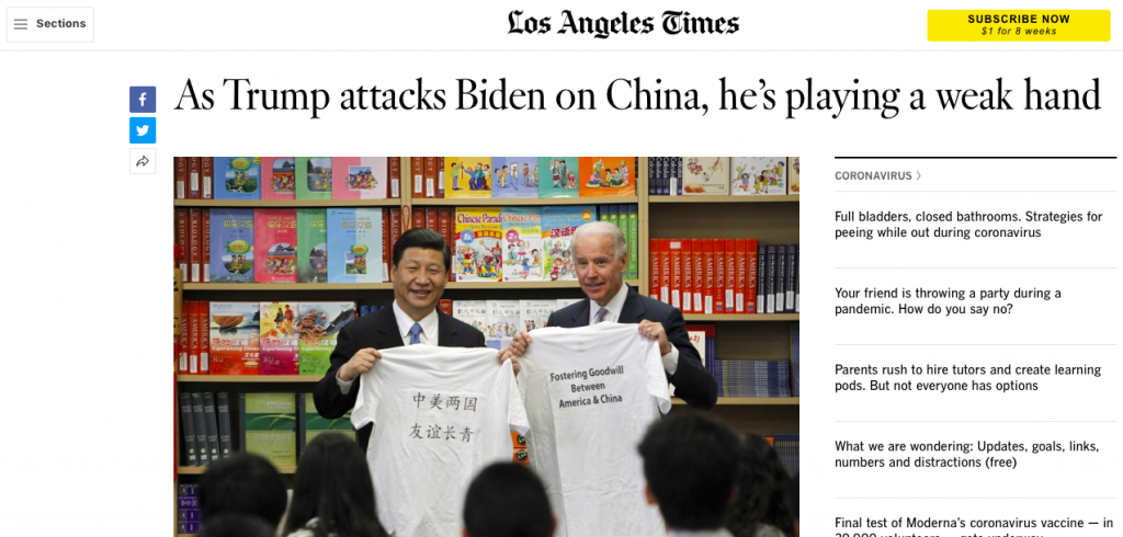 Leftist Media Obviously Being Paid By China