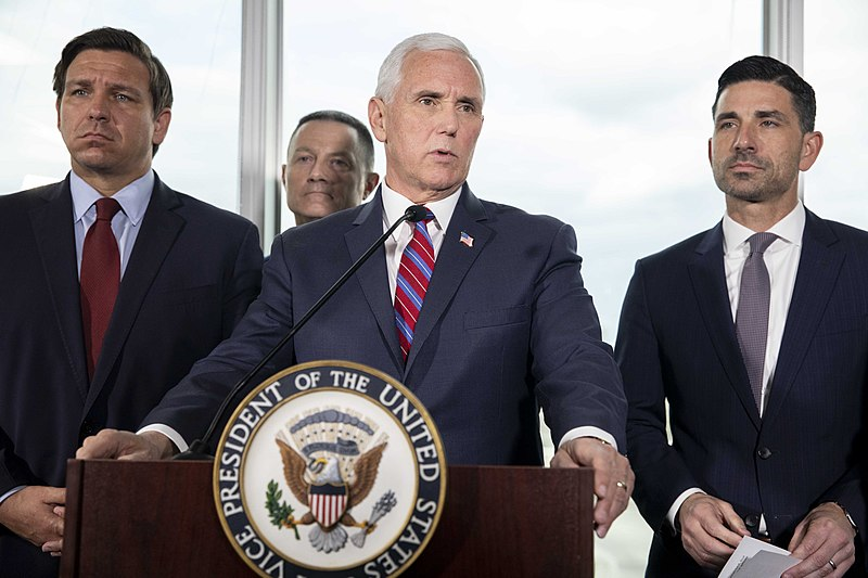 As COVID-19 Cases Surge In Florida, VP Pence Visits State