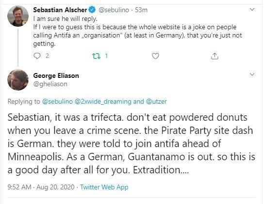 German ANTIFA Coordinator Denies 'Coordinating' Riots In US...Then Reporter Shows Proof