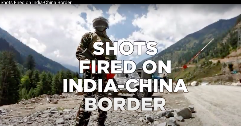 VIDEO: Shots Fired on India-China Border