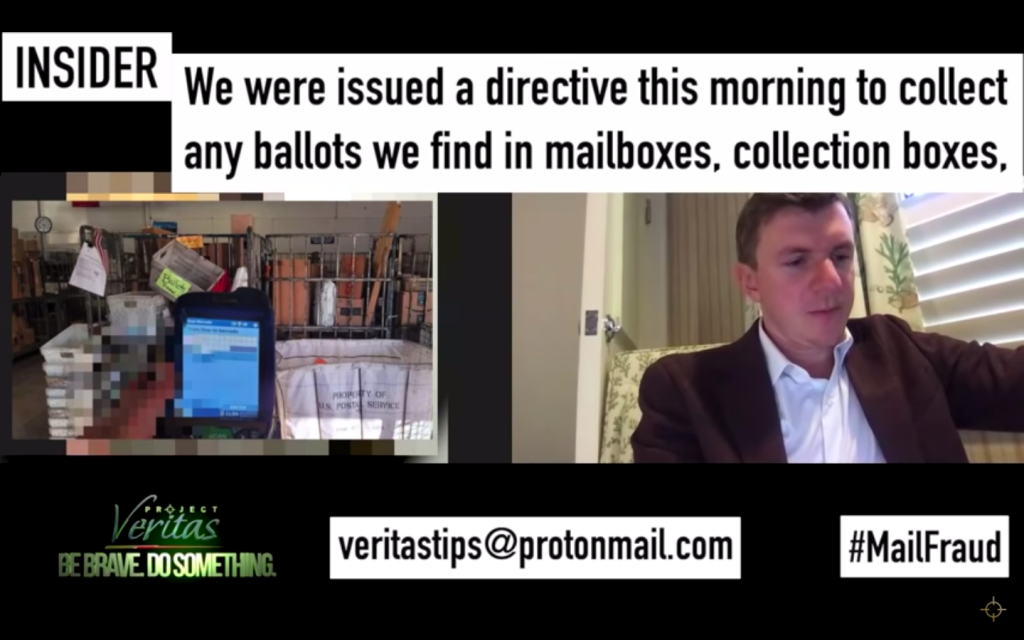 Project Veritas Exposes Corrupt Postal Scheme To Stamp Late Ballots As Received On Time