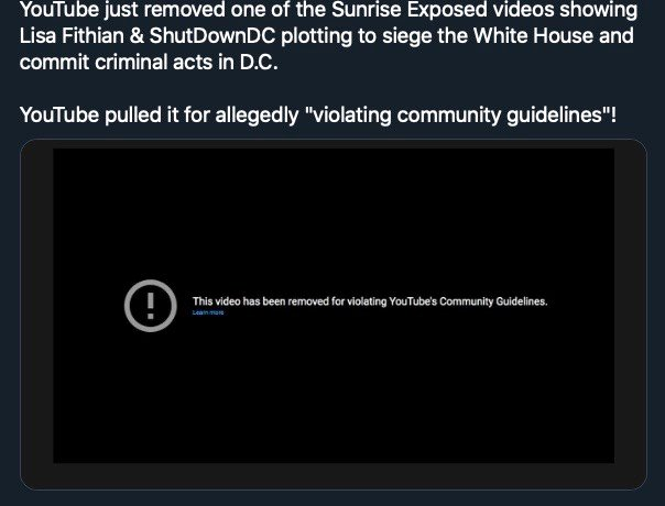 "YouTube Removes ""ShutDownDC"" Zoom Video Exposing Plot To Siege White House, Commit Criminal Acts In DC"