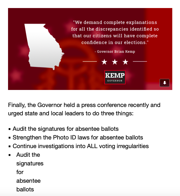 Not Only Is GA Gov Brian Kemp Corrupt, He Is A Liar