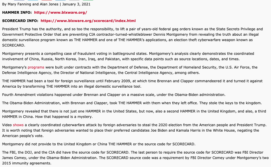 Deep State Removes Article On The Global Cyber/Information Op Against President Trump...This Is What Happened