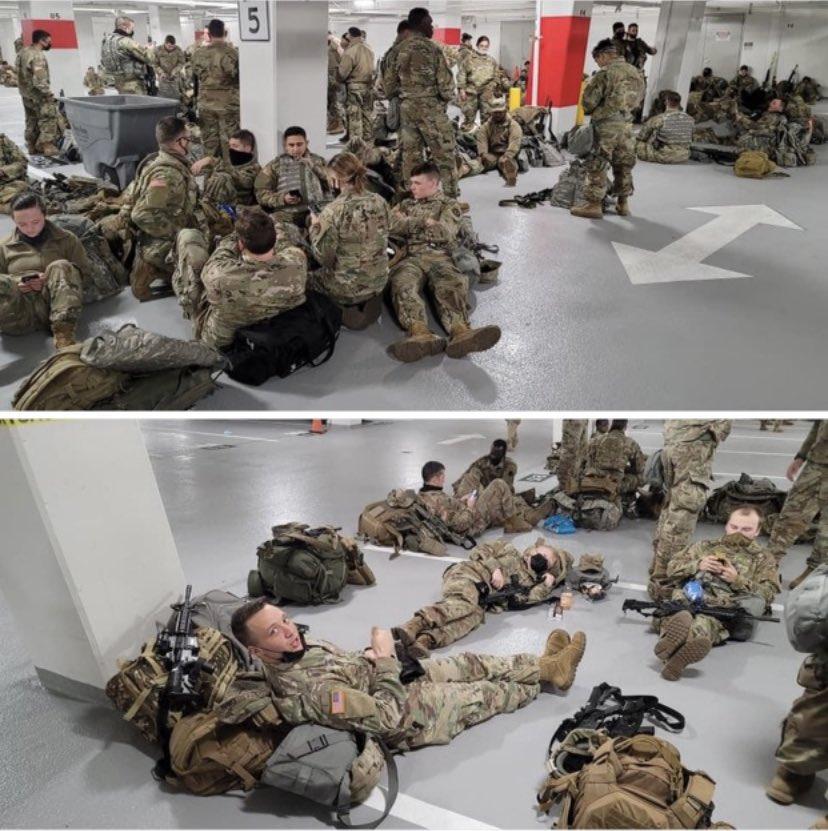 National Guard Treated Like Trash Pawns In DC Psyop Against America - CD Media