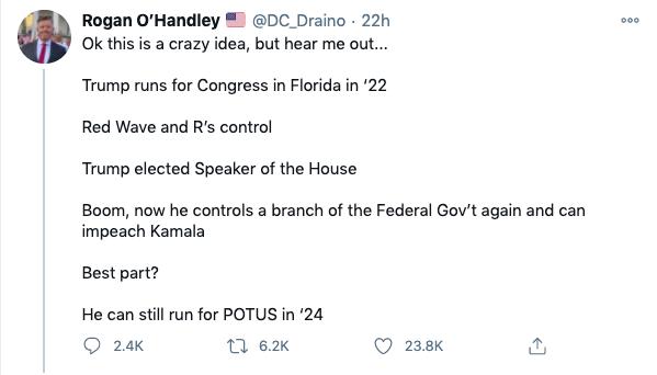 War Room:  Push Trump To Run For Speaker In   2022, Impeach Kamala, Run For POTUS In 2024