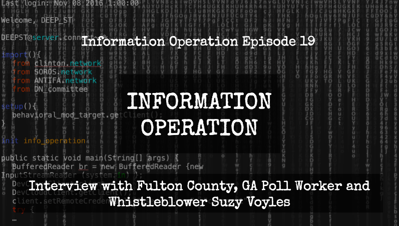IO Episode 19 - Interview With Fulton County, GA Poll Worker And Whistleblower Suzy Voyles
