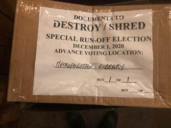 Ballot Shredding (Destruction Of Evidence) Has Already Started In Georgia