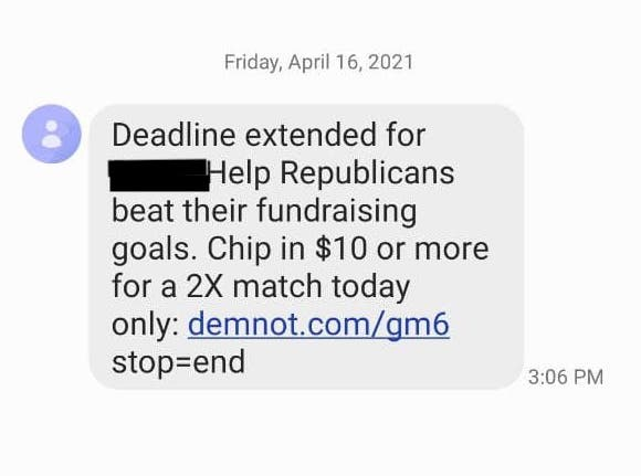 GOP Wouldn't Help Trump In Hour Of Need But STILL Fundraising Off His Name