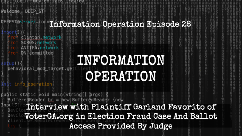 IO Episode 28 - Interview with Plaintiff in GA Election Fraud Case where Access To Ballots were Provided - CD Media