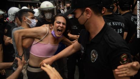 Turkish Police Fire Rubber Bullets And Tear Gas At Pride Parade